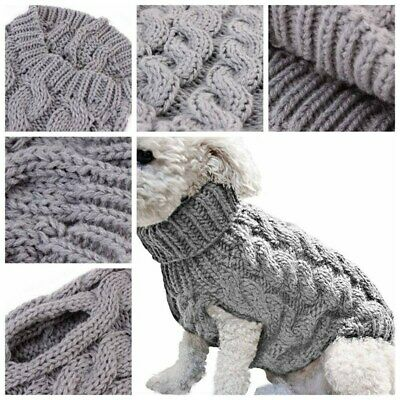 Knitted Dog Sweaters Clothing Chihuahua Clothes Soft for Small Dogs Pet Polished
