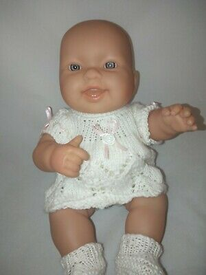"""Vinyl BERENGUER Baby Doll 35cm/14"""" Gorgeous Baby in Knitted Outfit Exc Cond"""