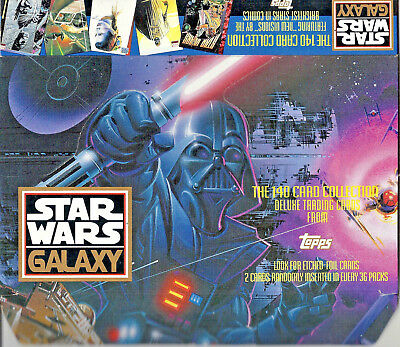 Star Wars Galaxy Series 1 - EMPTY CARD BOX - NO PACKS - SHIPPED FLAT - Topps