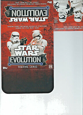 Star Wars Evolution - EMPTY CARD BOX - NO PACKS - SHIPPED FLAT - Topps