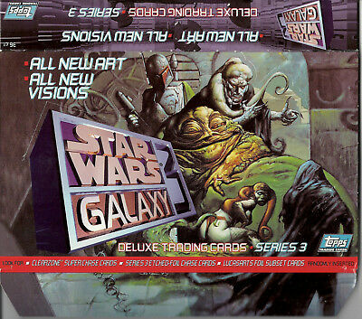 Star Wars Galaxy Series 3 - EMPTY CARD BOX - NO PACKS - SHIPPED FLAT - Topps