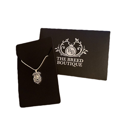 """Borzoi Pendant Necklace With 18"""" Silver Chain Lovely Gift For Borzoi Fans"""