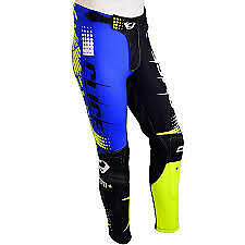 XL 36 Clice Trials TROUSERS BOTTOMS BLUE BLACK FLORESCENT YELLOW GASGAS SHERCO