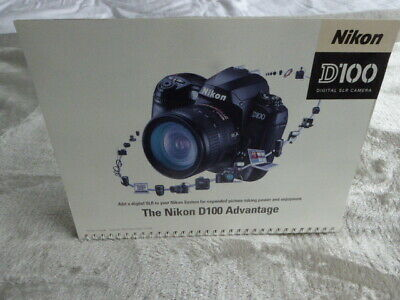 Nikon D100 camera Dealer Counter Display. Free standing, multi page
