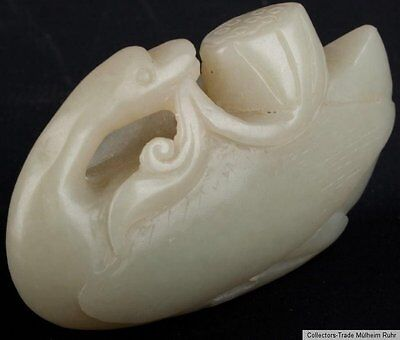 China 19 20. Jh a Small Chinese Jade Carving of a Goose Giada Cinese Chinese