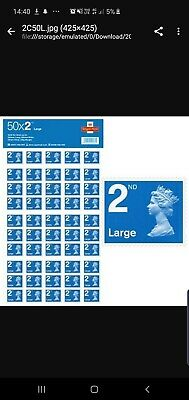 Royal mail 150 stamps  2nd Class stamps Booklet 50x3