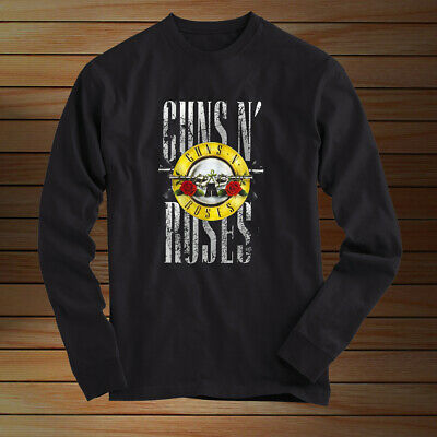 GUN AND ROSES BULLET LONG SLEEVES T SHIRT Black All Size