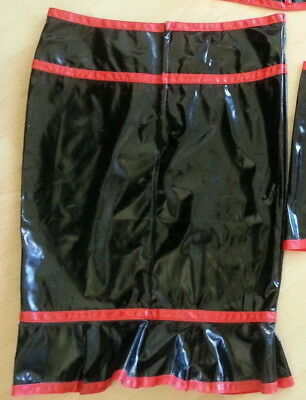 Black Level Lack PVC Pin Up Party Cosplay Schwarz Rot Rock Gr. 46