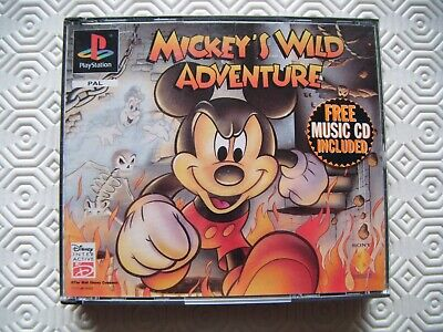 Micky's Wild Adventure Original 1996 rare special edition for Playstation 1