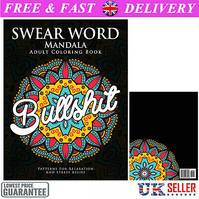 Adult Colouring Books Swear Word Release Your Anxiety Paperback Book 50 Sweary