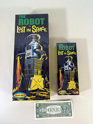 2 Lost In Space Robots, Polar Lights #5030, Moebius #418, Mint In Sealed Boxes