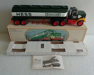 VINTAGE 1984 HESS FUEL OILS TOY TRUCK BANK w/BOX AND INSERT INSTRUCTIONS WORKS