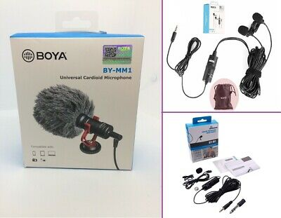 BOYA BY-M1 3.5 mm - Professional lavalier lapel Microphone - Smartphone and DSLR