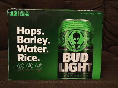 Bud Light Area 51 12 Pack Green Alien Can Very Limited FREE SHIPPING