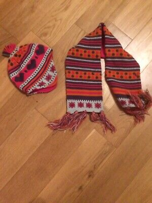 Marks And Spencers Girls Hat And Scarf