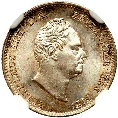 1836 Great Britain 4 Fourpence, Groat, KM-723, NGC MS 66, Superb Example