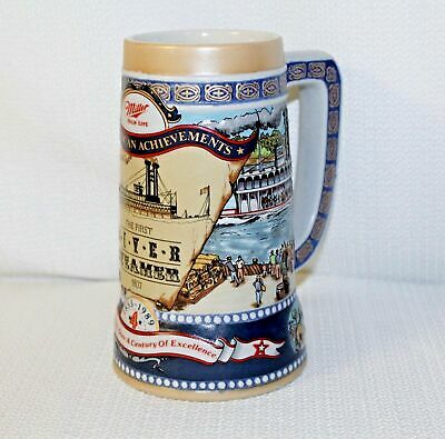 Miller Highlife Great American Achievments Steins, River Steambot & Lunar Lander