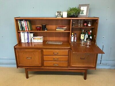 Vintage mid century 1970s teak William Lawrence sideboard drawers cabinet Danish