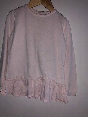 🎁Cute Pink Girl Top Jumper Size 3-4 Years The Little White Company