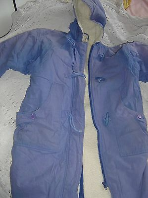 "Girl's lined hooded coat. age 9 -10. ""Debenhams"""