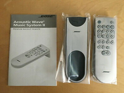 Bose Acoustic Wave II Music System Backlit Remote Control Silver