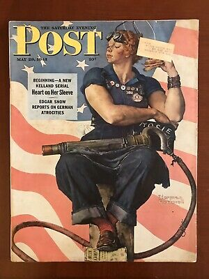 Norman Rockwell Saturday Evening Post May 1943 Rosie The Riveter - NO SHIPPING