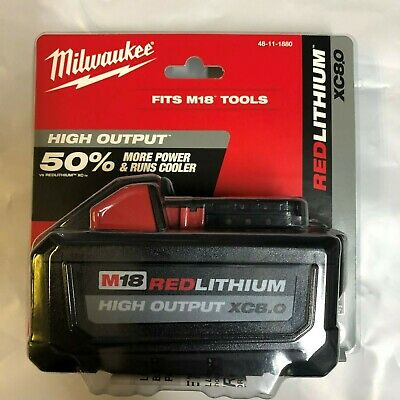 Genuine Milwaukee M18 XC 8 amp Red Lithium Battery NEW 48-11-1880 in package