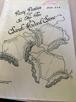 Sarah Howard Stone Girls Panty Pattern Party Panties From The Other Place Sz 3-4