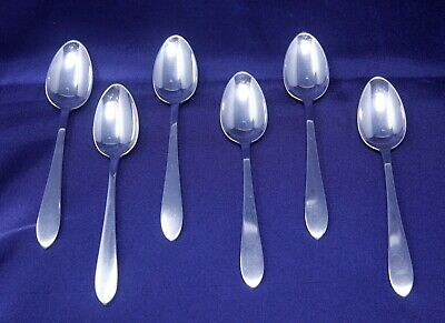 (6) Tiffany & Co. Queen Anne Sterling Silver Demitasse Spoons w/marked T&Co roll