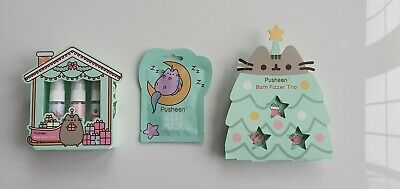Pusheen bath fizzer trio, body spray and face mask Christmas bundle Boots