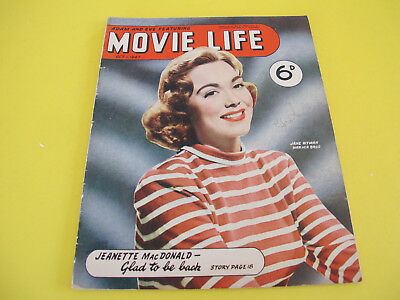 Jane Wyman on Front Cover Movie Life 1947 Magazine Bushells Tea Advertisement