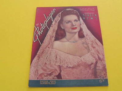 Maureen O Hara on Front Cover May 1946 Photoplayer Magazine Printed in Australia