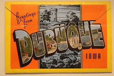 Vintage Souvenir Picture Folder - Dubuque, Iowa - Postcard sized; unposted