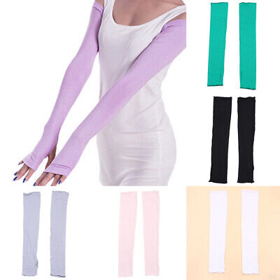 Women Sunscreen Gloves 48cm Long Arm Driving Sleeve Sports UV Sun Protection