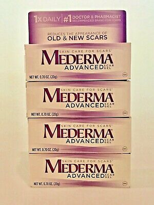4 Mederma Advanced Scar Gels 0.7oz each SEALED IN BOXES 4 ITEMS Expires 10/2020