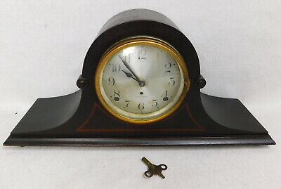 Antique Seth Thomas Cymbal 5 tambour mahogany wood mantel shelf clock