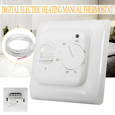 230V Manual Floor Heating Thermostat Temperature Control For Home Room Office