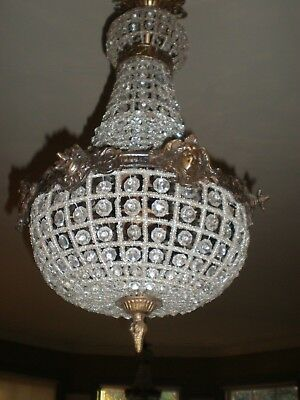 Pair of Large French Empire  Style Chandeliers