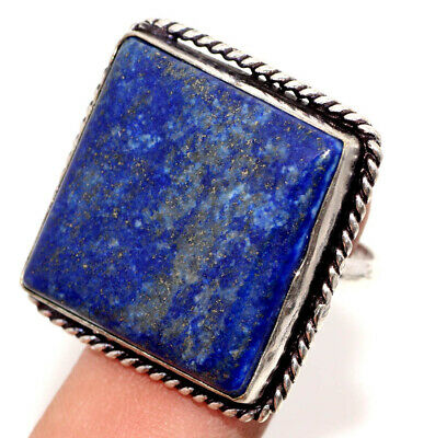 F6261 Lapis Lazuli 925 Sterling Silver Plated Ring Us 8