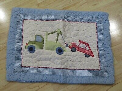 "Pottery Barn Bambini Standard ""Vehicales Finto "" Federa "" Tow "" Camion"