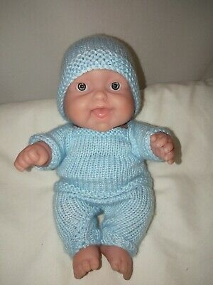 """Beautiful BERENGUER 20cm/8"""" Vinyl Baby Doll Knitted Outfit"""
