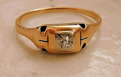 Ring Art Deco, Diamant, 18 Karat Gold, um 1920