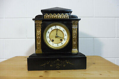 French Marble Mantel Clock Shelf Mantel Antique Clock Table Clock