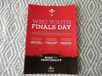 rugby union programme,WELSH YOUTH FINALS,PRINCIPALITY STADIUM4THTH MAY 2019  (4)