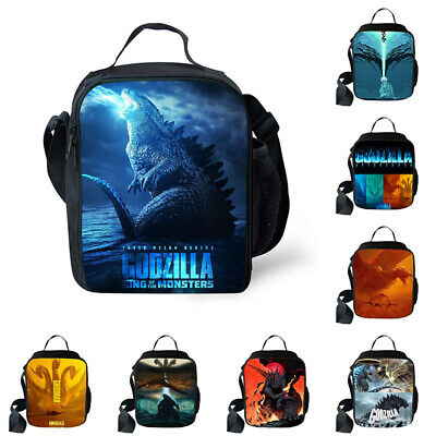 3D Godzilla Lunch Bag Kids' Thermal School Box Container PicnicHandbag Container
