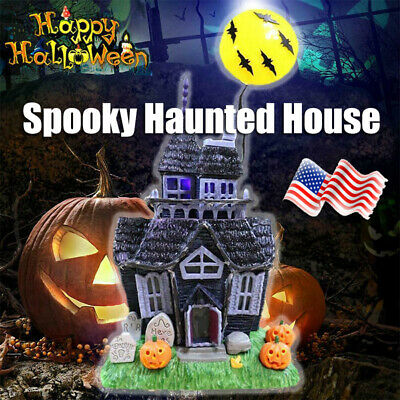 Halloween Decoration Spooky Haunted House Flashing Lights Sound Motion Sensor ++