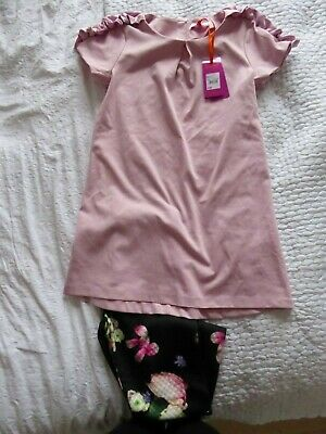 NEW - Ted Baker top and leggings set - pink and Black - 12 -13 years - RRP £36