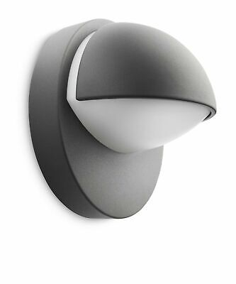 Philips MyGarden June Outdoor Wall Light Anthracite (Includes 1 x 12 Watts E2...
