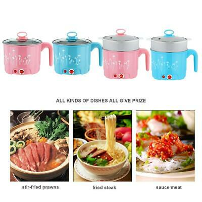 Multi-function Mini Electric Skillet Noodle Rice Cooker Cooking Pot Pan Set Neu