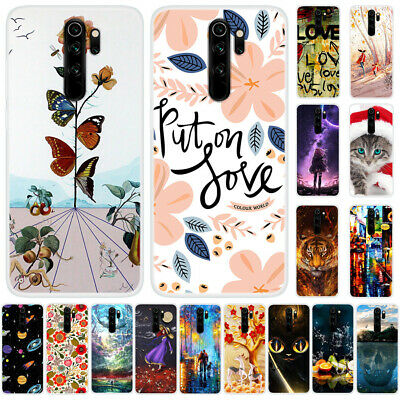 For Xiaomi Redmi Note 8 7 6 Pro Slim Silicone Painted Soft Clear TPU Case Cover